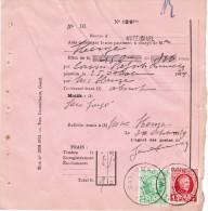 Protet Bureau Watermael Met Houyoux Zegels - 1922-1927 Houyoux