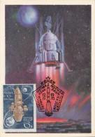 MOON SPACE Rocket Station LUNA  10  /  1970 Russia Old RARE Maxi Card !!!!!!!!!!! - Rusland En USSR