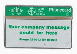 PAPOUASIE NOUVELLE-GUINEE TELECARTE PTC PROMOTIONAL CARD  CN 110F MINT