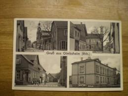 Gimbsheim ( Landkreis Alzey-Worms) Gruss Aus Mehr Bild // Ua Schule - Lessing  U Hauptstrasse // 19?? - Alzey