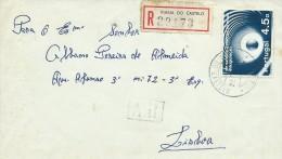 TIMBRES - STAMPS - LETTRE RECOMMANDÉE - MARCOPHILIE - PORTUGAL - COMMUNICATION VIA SATELLITE - CACHET  VIANA DO CAST - 1910-... République