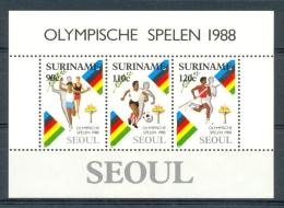 Mwb0591 SPORT OLYMPISCHE SPELEN VOETBAL HOOGSPRINGEN SOCCER FOOTBALL OLYMPIC GAMES SEOUL SURINAME 1988 PF/MNH - Zomer 1984: Los Angeles