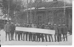 Officiers Allemands Devant Leurs Quartiers Avec Un Braque Allemand Chien De Chasse 1 Carte Photo 1914-1918 14-18 Ww1 Wk1 - War, Military