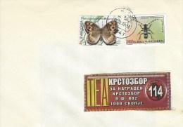 Macedonia 2005 Skopje Pseudochazara Butterfly Rosalia Beetle Insect Cover - Schmetterlinge