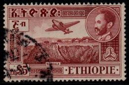 ~~~ Ethiopie 1947  - Poste Aerienne  5$ - Mi. 259 (o) - Cote 10.00 Euro  ~~~ - Äthiopien