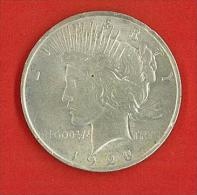 NUMISMATICA - 1 $ DOLLARO - USA Dollaro,1923 LIBERTY PEACE, PACE - One Dollar - SILVER NON PULITO - Émissions Fédérales