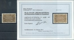 DR-Infla 254bDD DOPPELDRUCK* BPP BEFUND 80++EUR (G8811 - Duitsland