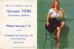 Oostende :  Philips Service : Kalender 1961 ( Zie Scnas )    Pin-up Girl - Non Classés