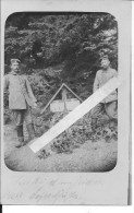 Somme Ginchy Soldats Allemands 1er Bay.Fuss.Art.Rgt. 2 Munition Kolone Devant 1 Double Tombe 1 Carte Photo 14-18 Ww1 Wk1 - War, Military
