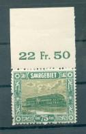 Saar 93 OR HERRLICHE OBERRÄNDER**POSTFRISCH (72274 - Nuovi