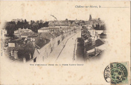 CHALONS SUR MARNE VUE D'ENSEMBLE PRISE DE LA PORTE SAINTE CROIX - Châlons-sur-Marne