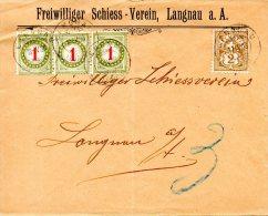 SUISSE. Enveloppe De La Suisse De 1903. Lettre Taxée. - Taxe