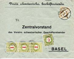 SUISSE. Enveloppe De La Suisse De 1902. Lettre Taxée. - Taxe