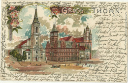 Pays Bas CPA Gruss Aus Thorn Kirche Post Litho 1904 - Pommern