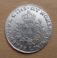 LOUIS XV ECU AU BANDEAU 1765 L - 987-1789 Royal