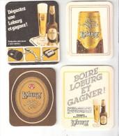 Loburg-Bière-Beer-4 Sous-Bock - Bierviltje - Beer Coaster +publicité Pour Des Concours De 1992 (Ferrari F40)-1991-1988 - Autres Collections