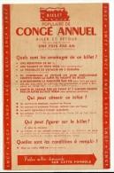 BILLET POPULAIRE De CONGÉ ANNUEL Voyage S.N.C.F 1954 - Chemins De Fer