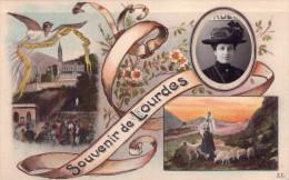 00 - SOUVENIR DE LOURDES - Emplacement Pour Une Photo - Femme Avec Un Beau Chapeau-Automatic Photo Cie-carte Brevetée - Souvenir De...