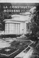 LA  CONSTRUCTION  MODERNE   Revue D Architecture  1938    Carte Imprime - Advertising