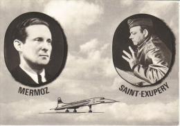 Jean Mermoz  -  Antoine De Saint-Exupéry  -  Carte Postale - Aviateurs