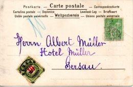 SUISSE. Carte Postale De La France Pour La Suisse De 1901. Carte Taxée. - Taxe