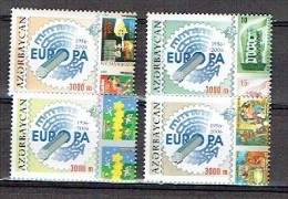 AZERBAIDJAN AZERBAIJAN 2006, 50 ANS EUROPA, 4  Valeurs, Neufs / Mint. R1679 - Azerbeidzjan