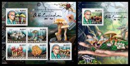 MOZAMBIQUE 2012 - G.H. Cunningham, Mushrooms - YT 5155-60 + BF635; CV = 38 € - Funghi