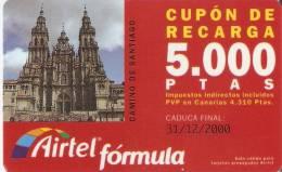 ACR-047/2 TARJETA CAMINO DE SANTIAGO DE 5000 PTAS CATEDRAL - Spanje