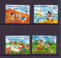 GRENADA GRENADINES 1988 DISNEY   YVERT N°874/78 NEUF MNH** - Disney