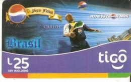 TARJETA DE HONDURAS DE TIGO DE PEPSI-COLA DE ROBERTO CARLOS -BRASIL (FUTBOL-FOOTBALL) - Honduras