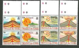 Trstan Da Cunha Bande Neufs Sans Charniére, Un Avec Petit Tache, MINT NEVER HINGED,1 WITH LITTLE TONE VOLCANOES - Tristan Da Cunha