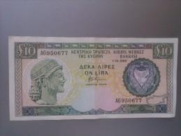 Cyprus 1990 10 Pounds - Chypre