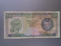 Cyprus 1989 10 Pounds - Chypre