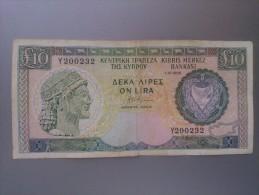 Cyprus 1988 10 Pounds - Chypre