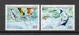 NOUVELLE CALEDONIE  PA N° 192+193  NEUF SANS CHARNIERE COTE  5.00€   POISSON  PECHE - Neufs