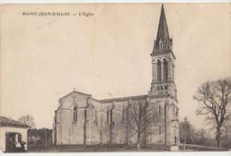 CPA 33 SAINT JEAN D'ILLAC Eglise 1908 - France
