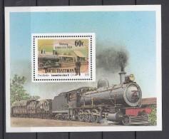 Trein, Train, Railway: Bophuthatswana 1991 Mi Nr Blok 6 - Treinen