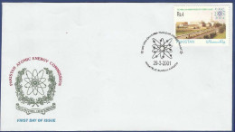 PAKISTAN 2001 MNH FDC FIRST DAY COVER  CHASHMA NUCLEAR POWER PLANT ATOM ENERGY BUILDING ATOMIC - Pakistan