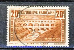 Francia 1929 Pont Du Gard Y.T N. 262 Tipo IIB FR 20  Rame Chiaro Usato - Gebraucht