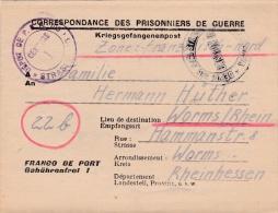 Prisoner Of War WW2, From German POW In France, PG Depot 105 In Strasbourg - Letter Inside Dated 8.23.1948 D(G59-76) - Militaria