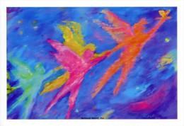Three Angels Fairy Fairies Art Postcard Project Angel LA Food Meals AIDS Gay - 7430 - Health