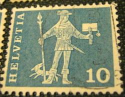 Switzerland 15th Century Cantonal Messenger From Schwyz 10c - Used - Switzerland