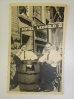 Café Hotel Leopold II Blankenberghe Augustus 1948 Terras  RARE Gevaert - Métiers