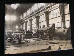 Photo 23 X17 Cm C.1920 Ateliers Et Chantiers Gironde Bordeaux - Chaudières De Locomotives  - NW43 - Trains