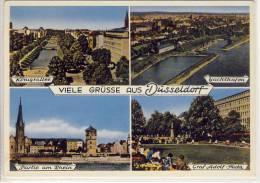 DÜSSELDORF - Mehrbildkarte M. Yachthafen, Königsallee, Graf Adolf-Platz, Parti Am Rhein - Düsseldorf