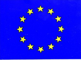 Bandiera Europa Adesiva. Dim 16 X 12 Cm - Nautico & Marittimo