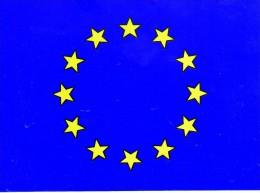 Bandiera Europa Adesiva. Dim 16 X 12 Cm - Maritime & Navigational