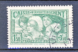 Francia 1931 Caisse D'Am. Y&T N. 269, Fr. 1,50 + Fr 3,50 Verde Giallo Usato - Sinking Fund