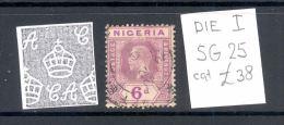 NIGERIA, 1921 6d (wmk Script CA, Die I) VFU, SG25, Cat £38 - Nigeria (...-1960)
