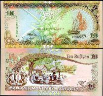 Maldives 10 Rufiyaa, 2006, P-19, UNC - Maldivas